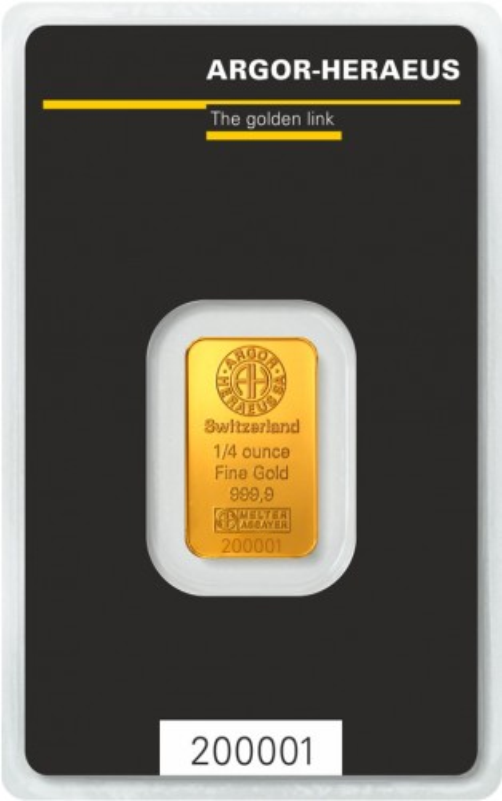 Goldbarren Argor-Heraeus 1/4 oz