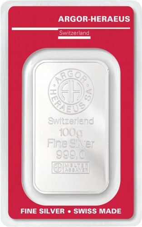 Silberbarren Argor-Heraeus 100 g