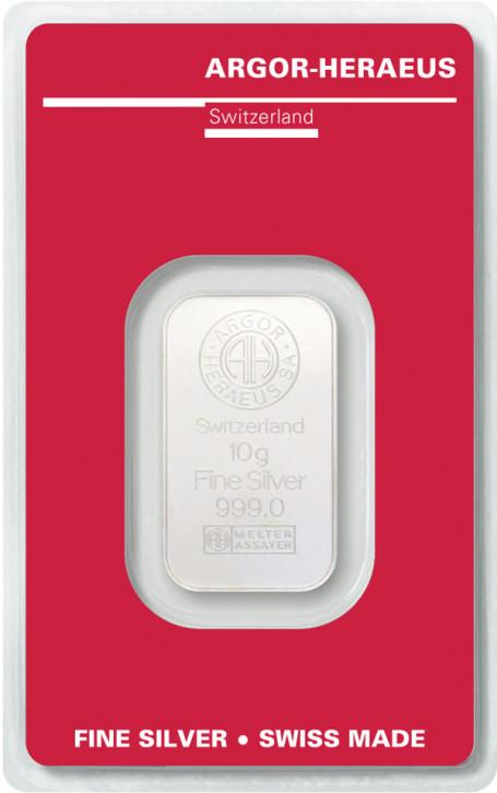 Silberbarren Argor-Heraeus 10 g