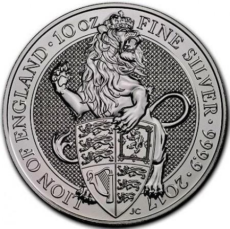 Queens Beast Lion Silber 10 oz 2017