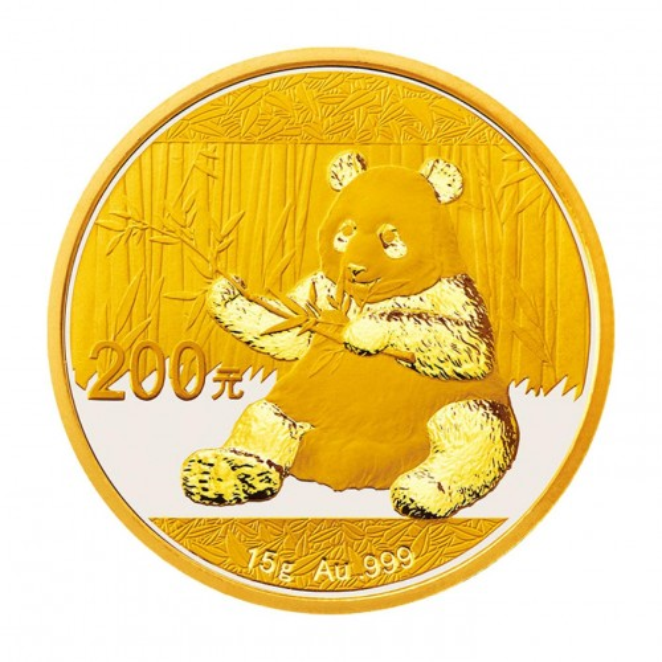 China Panda Gold 15 g 2017