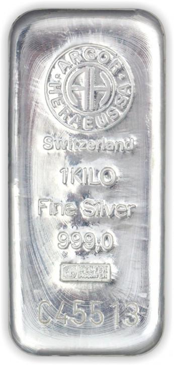 Silberbarren Argor-Heraeus 1 kg