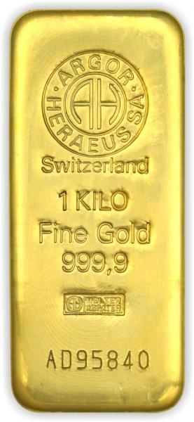 Goldbarren Argor-Heraeus gegossen 1 kg