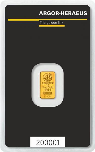 Goldbarren Argor-Heraeus 1 g