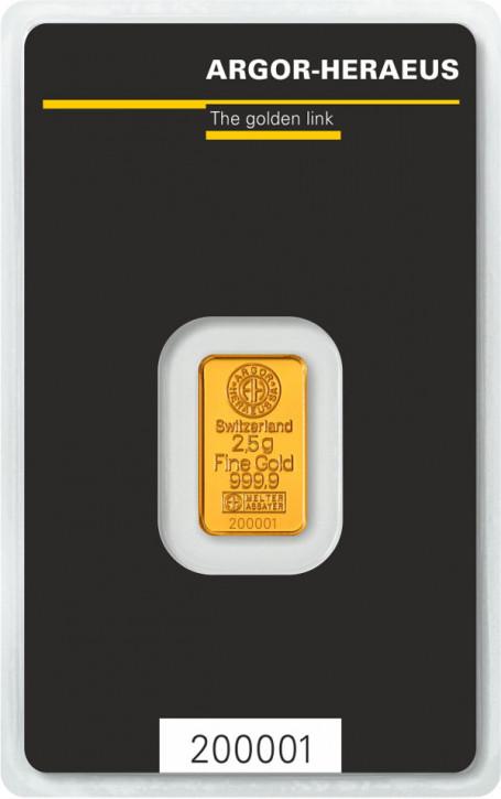Goldbarren Argor-Heraeus 2,5 g
