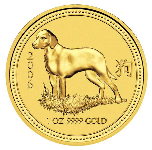 Lunar I Hund 2006 Gold 1 oz