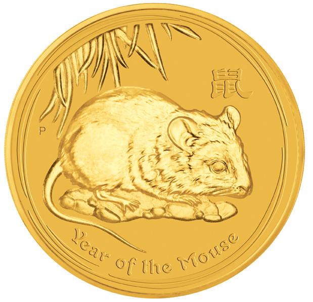 Lunar II Maus 2008 Gold 1/20 oz