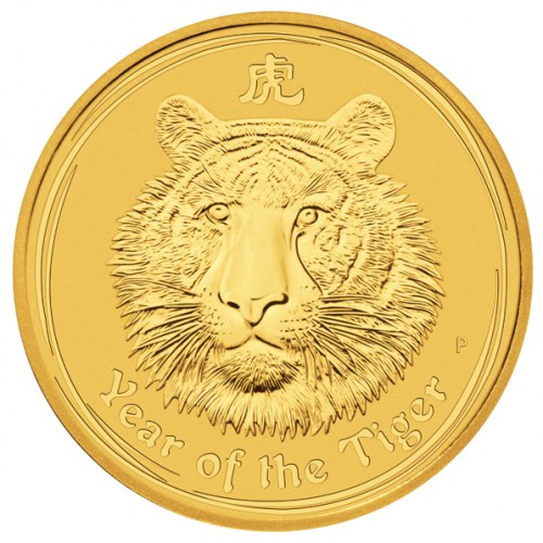 Lunar II Tiger 2010 Gold 1/20 oz