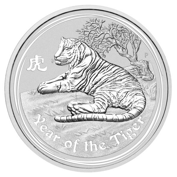 Lunar II Tiger 2010 Silber 10 kg
