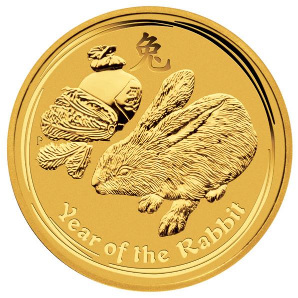 Lunar II Hase 2011 Gold 1/20 oz
