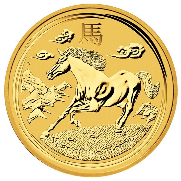 Lunar II Pferd 2014 Gold 1/20 oz