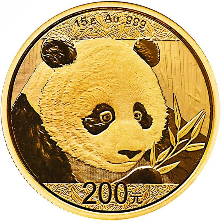 China Panda Gold 15 g 2018