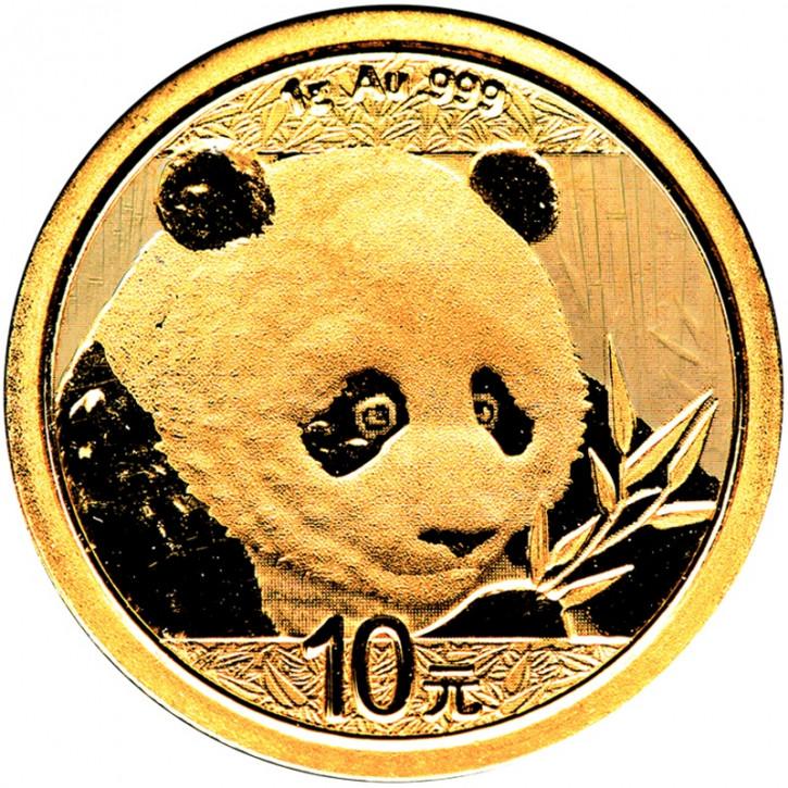 China Panda Gold 1 g 2018