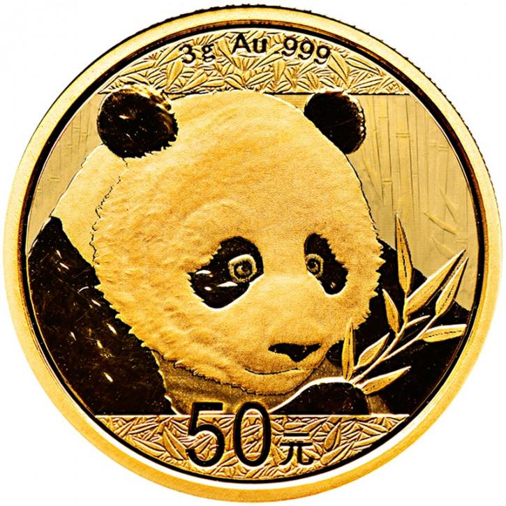 China Panda Gold 3 g 2018