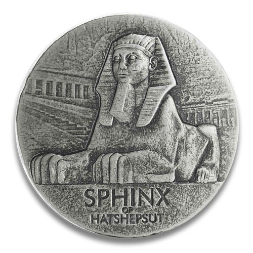 Egyptian Relic Series - Sphinx Silber 5 oz 2019 Antique Finish