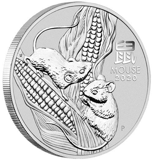 Lunar III Maus 2020 Silber 5 oz
