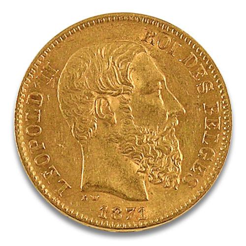20 Franc Leopold II. Belgien