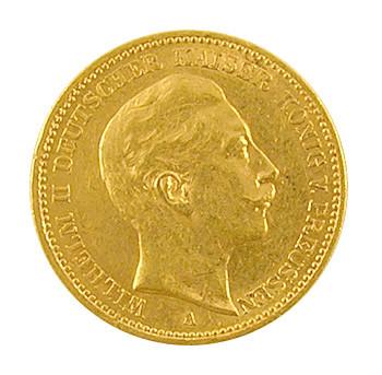 20 Mark Wilhelm II vom Preussen