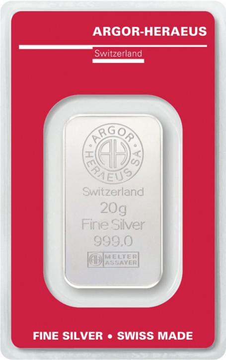Silberbarren Argor-Heraeus 20 g