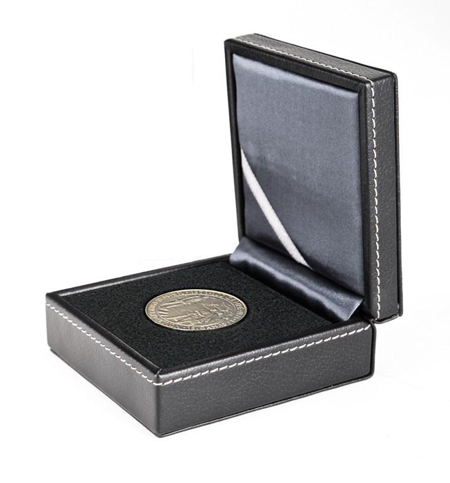 Münzetui NERA XS mit Patenteinlage zum Eindrücken