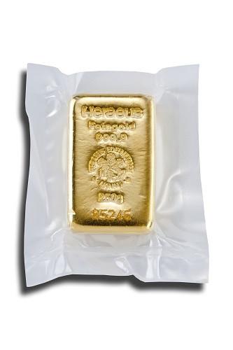Goldbarren Heraeus gegossen 250 g