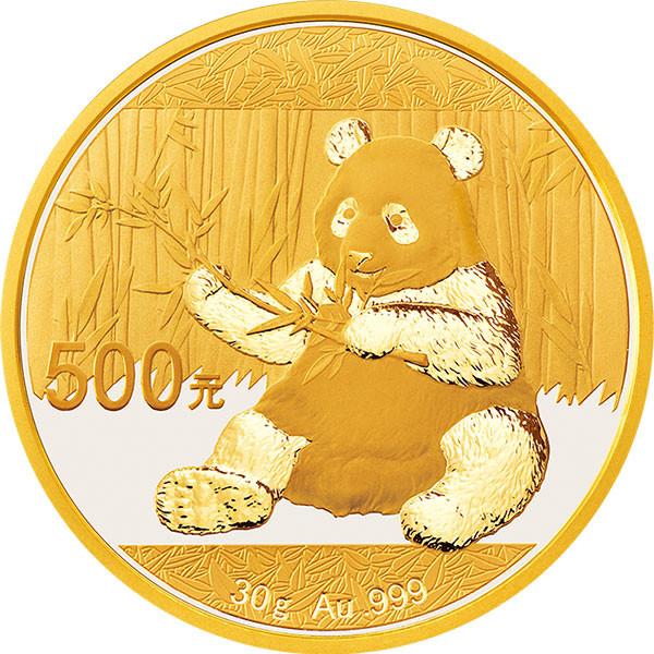 China Panda Gold 30 g 2017