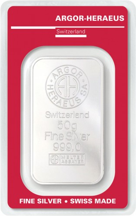 Silberbarren Argor-Heraeus 50 g