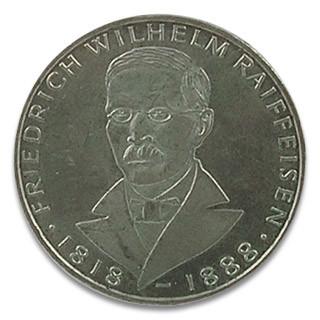 5 DM Friedrich Wilhelm Raiffeisen 1968