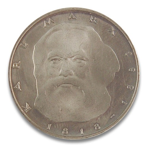 5 DM 100. Todestag Karl Marx 1983