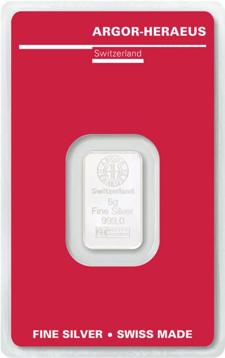 Silberbarren Argor-Heraeus 5 g
