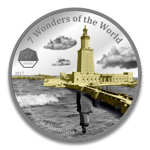 Ghana 7 Wonders of the World 2017 - Lighthous of Alexandria Silber 5 oz