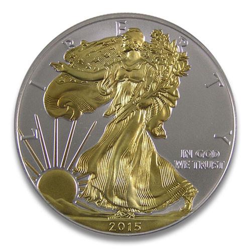 American Eagle Silber 1 oz vergoldet 2015