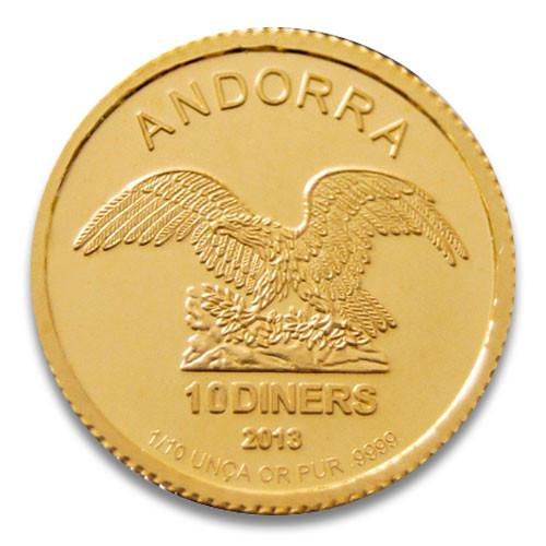 Andorra Gold 1/10 oz verschiedene