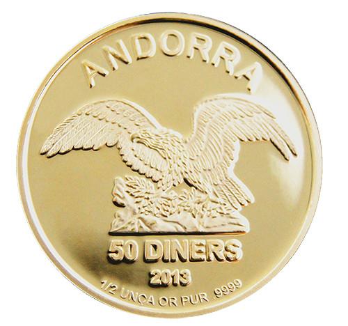 Andorra Gold 1/2 oz verschiedene