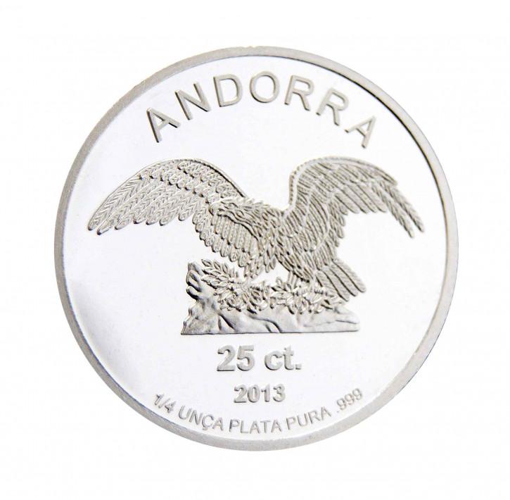 Andorra Silber 1/4 oz 2013