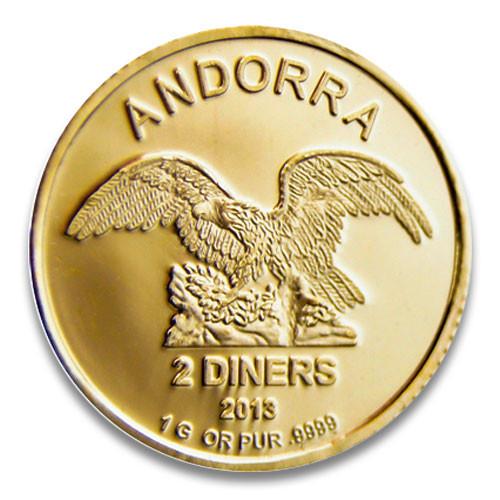Andorra Gold 1 g verschiedene