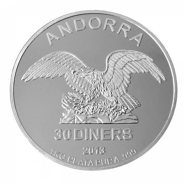 Andorra Eagle Silber 1 kg verschiedene
