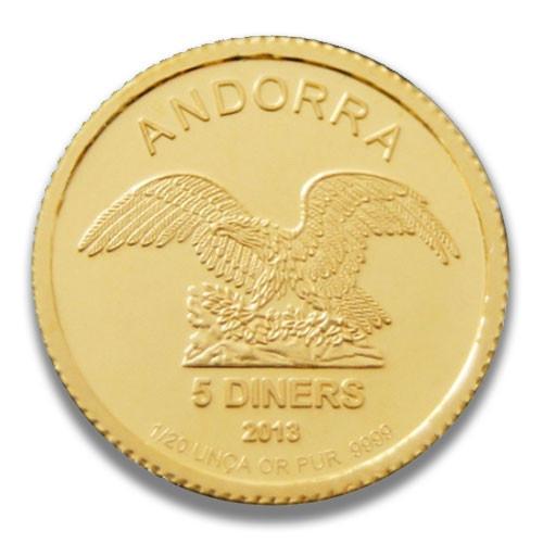 Andorra Gold 1/20 oz verschiedene