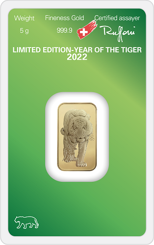 Goldbarren Argor-Heraeus Lunar Tiger 2022 - 5 g