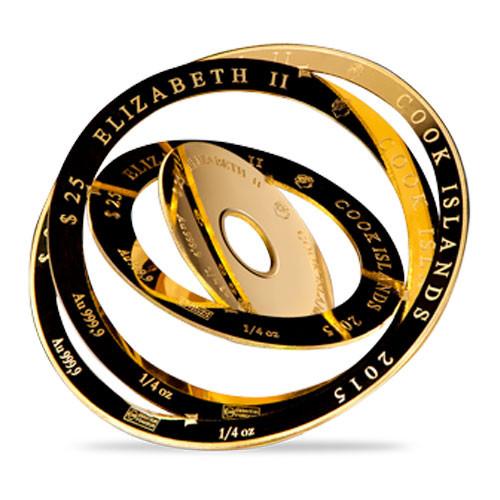 Cook Island Gold 1 oz Armillery Coin 2015