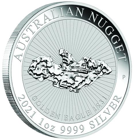 Nugget Australien 2021 Silber 1 oz