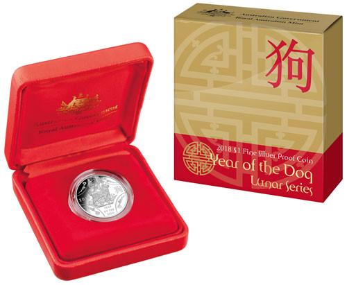 RAM Lunar Hund 2018 Silber 11,66 g polierte Platte