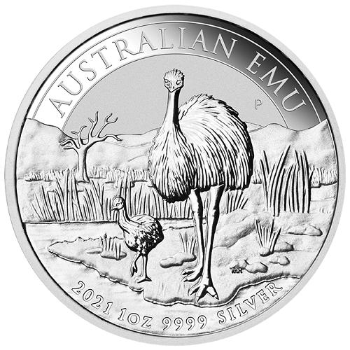 Emu Australien 2021 Silber 1 oz