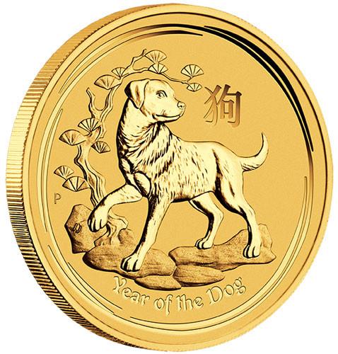Lunar II Hund 2018 Gold 1/20 oz