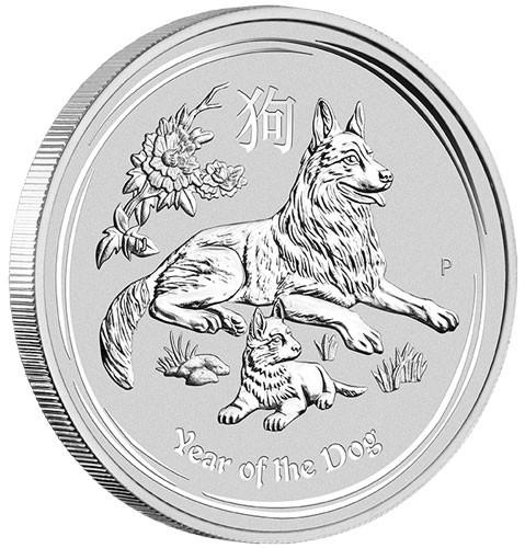 Lunar II Hund 2018 Silber 10 oz