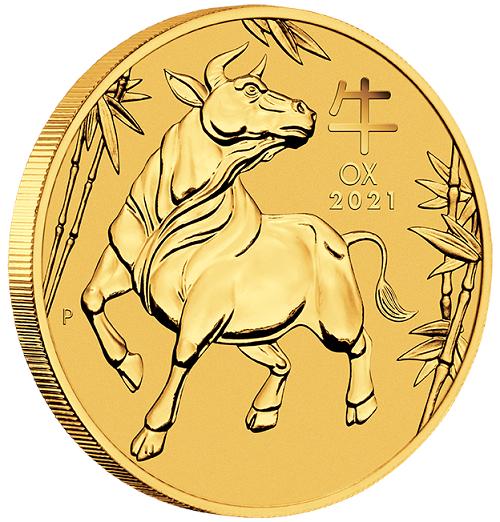Lunar III Ochse 2021 Gold 1/20 oz