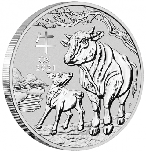 Lunar III Ochse 2021 Silber 1 oz