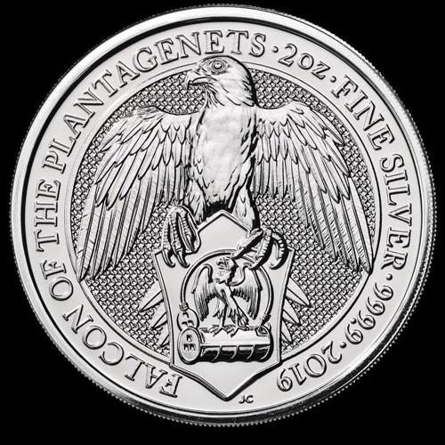 Queens Beast Falcon Silber 2 oz 2019