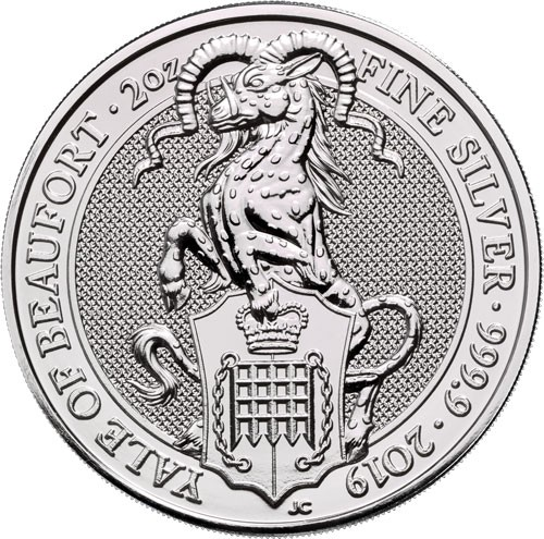 Queens Beast Yale of Beaufort Silber 2 oz 2019