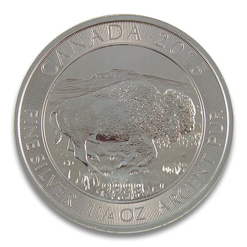 Maple Leaf Wildlife 2015 Bison Silber 1,25 oz